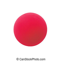 red sport ball isolated on white