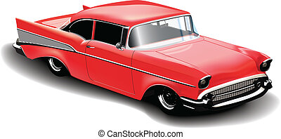 red sport car vector illustration