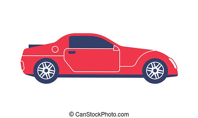 Red Sports Car flat icon