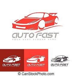 Red sports car logo