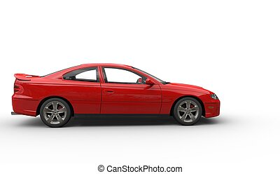 Red Sports Car Side View