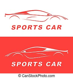 Red Sports Car silhouette.