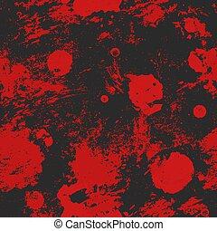 Red spots grunge seamless texture.