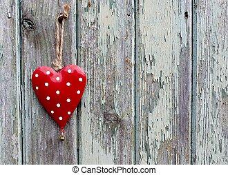 Red spotty heart