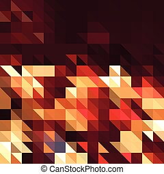 Red square abstract background