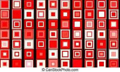red square background,seamless loop,1080p
