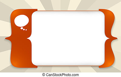 red square brackets for entering any text with speech bubble