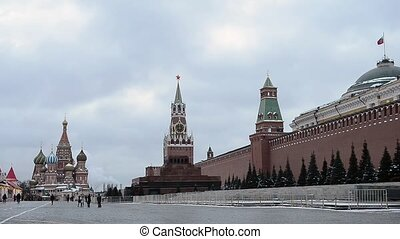 Red Square in Moscow, Russia - Moscow Red Square, Mausoleum...