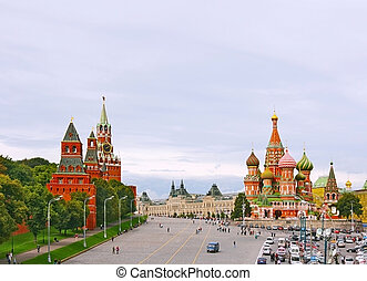 Red Square in Moscow, Russian Federation. National Landmark...
