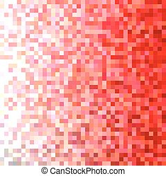 Red square mosaic vector background design