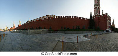 Red Square on a summer day, panorama. Moscow, Russia
