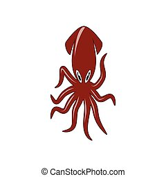 Red squid as an icon