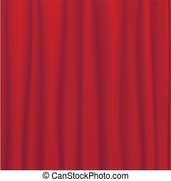 Red stage curtain - Vector illustration of a red stage...