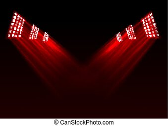 Red stage lights background