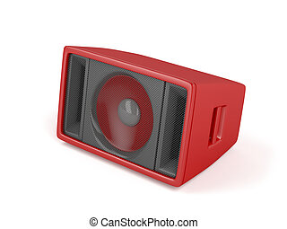 Red stage speaker