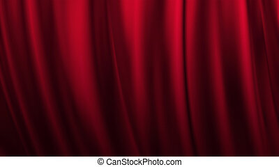 Red stage theatre curtain background