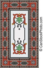 Red stained glass