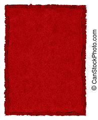 Red Stained Paper - A red, vintage paper background with a...