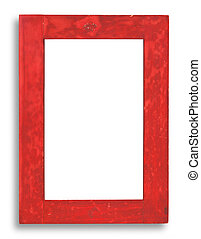 red stained wood frame - XXL size - old stained wood frame...