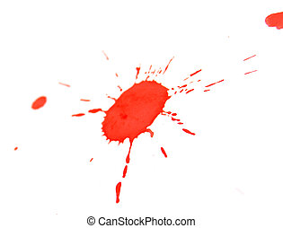 Red stains. On a white background.