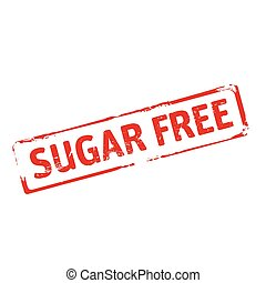 Red stamp and text Sugar Free.