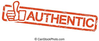 red stamp AUTHENTIC