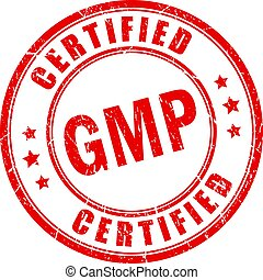 Red stamp gmp certified - Red grunge stamp gmp certified