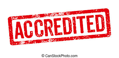 Red Stamp on a white background - Accredited
