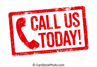 Red Stamp on a white background - Call us today