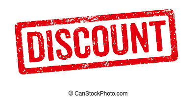 Red stamp on a white background - Discount