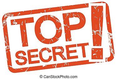 red stamp TOP SECRET!