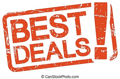 red stamp with text best deals