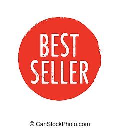 Red stamp with text Best Seller. Vector Illustration.