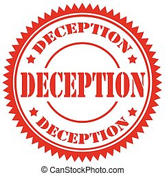 Deception - Red stamp with text Deception,vector...