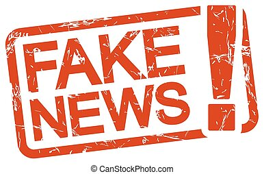 red stamp with text Fake News - grunge stamp with frame ...