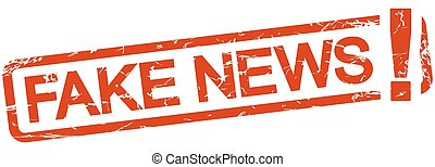 red stamp with text Fake News - grunge stamp with frame...