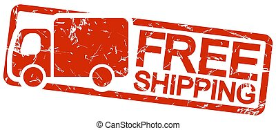 red stamp with text free shipping