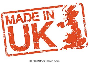red stamp with text Made in UK