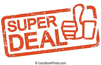 red stamp with text Super Deal