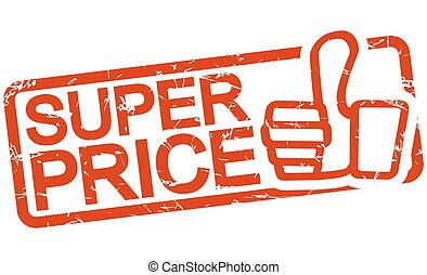 red stamp with text Super Price