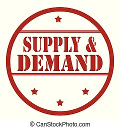 Supply & Demand - Red stamp with text Supply & Demand,vector...