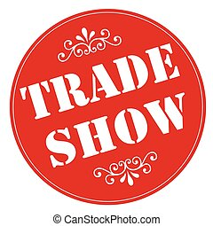 Trade Show - Red stamp with text Trade Show,vector...