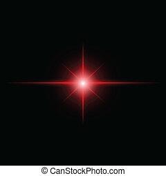 red Star burst  light beam vector