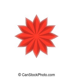 Red star icon, cartoon style