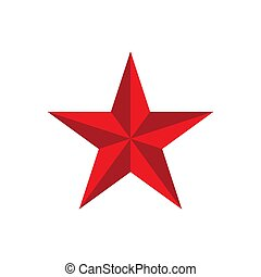 Red star logo vector isolated on white background