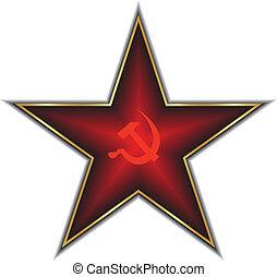 Red star of Communism