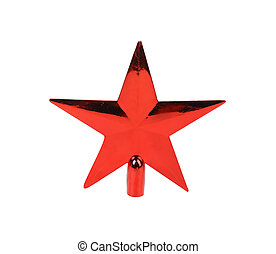 Red star on a white background