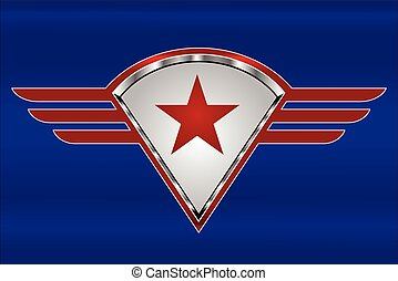 Red Star on  the red winged shield.eps