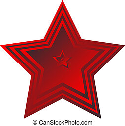 Red star on white