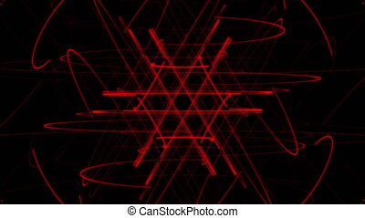 Red star particle abstract background
